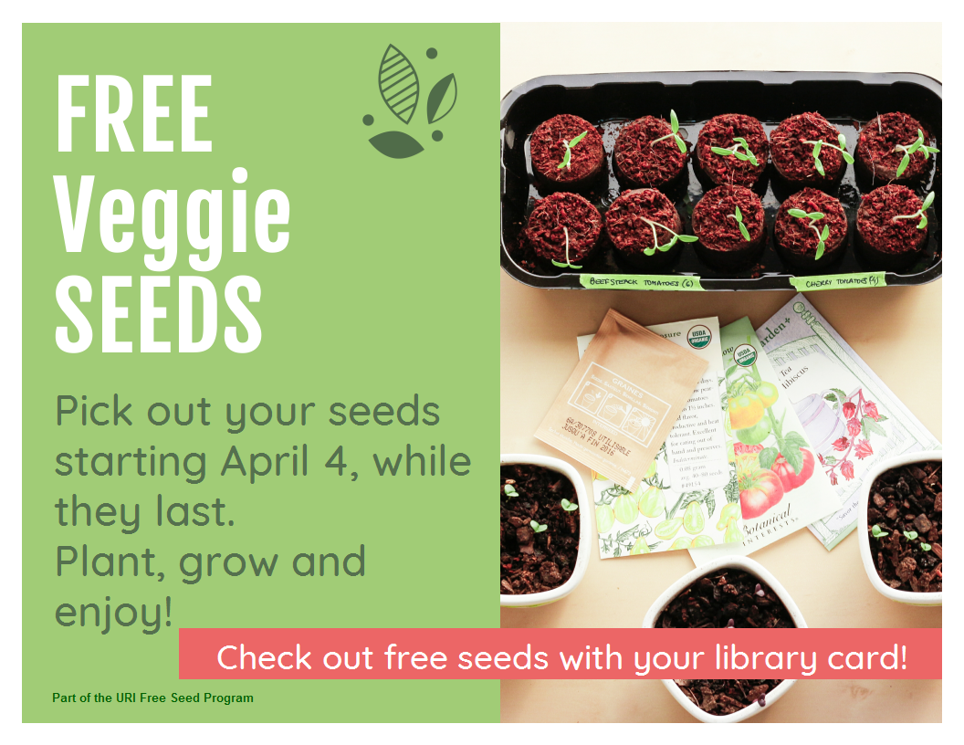 Free veggie seeds at library